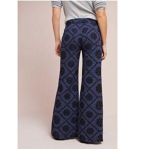 ett:twa Pants - Anthropologie Embroidered Eyelet Wide-Leg
